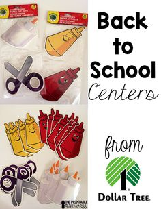 back to school centers from Dollar Tree plus free recording sheets