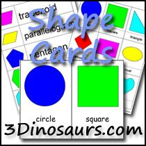 Free Shape Cards and other shape learning activities