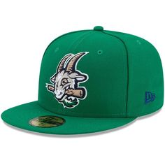 1eb47d05c077 Hartford Yard Goats New Era Authentic Collection On-Field 59FIFTY Fitted  Hat - Green