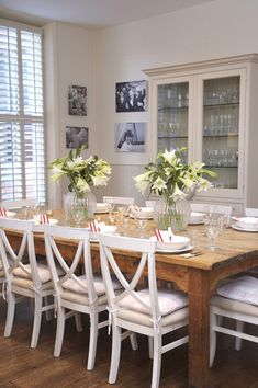 Edwardian dining table & revamped chairs