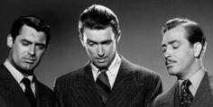 Cary Grant, Jimmy Stewart and John Howard in The Philadelphia Story (1940).
