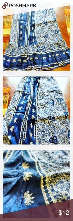 Floral Maxi Skirt! Awesome maxi skirt! It is lined; size L Echo & Rage Skirts Maxi