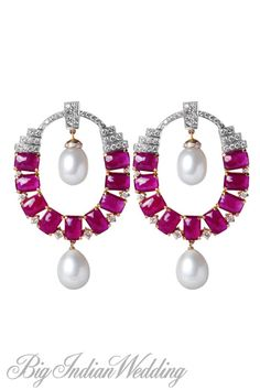Neety Singh ruby earrings