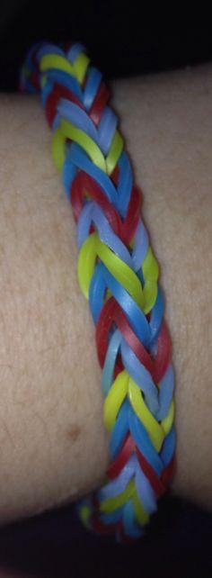 Autism colors ❤️ fishtail rainbow loom bracelet (made by Julia) :)