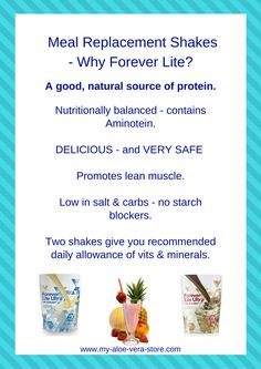 Why would anyone NOT choose Forever Lite with Aminotein when selecting protein shakes for weight loss? #protein shakes for weight loss #protein meal replacement shakes