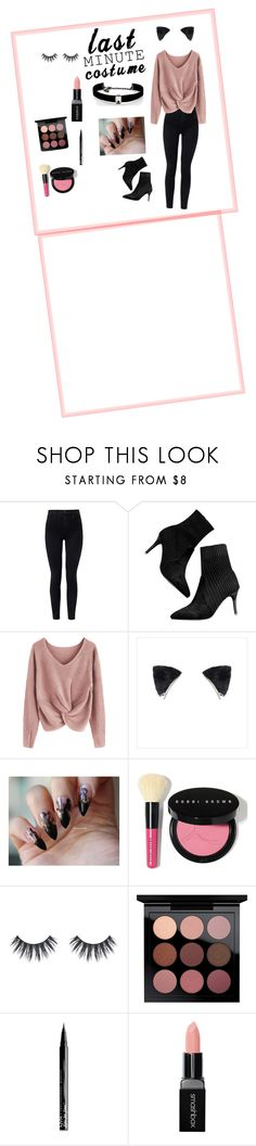 """""""pretty kitty last minute costume"""" by laurensbingham ❤ liked on Polyvore featuring J Brand, Bobbi Brown Cosmetics, MAC Cosmetics, NYX, Smashbox and Kenneth Jay Lane"""