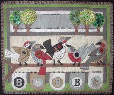 cute bird quilt