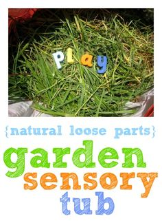 Enjoy some nature play indoors or out with this garden sensory tub - love the ideas for ways to play with it.