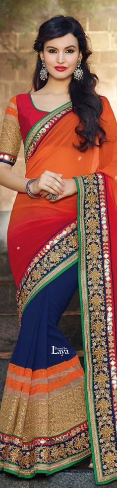 #SAREES women fashion outfit clothing style apparel @roressclothes closet ideas