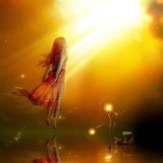 Quand la vie est brumeuse, je porte mon habit de lumiére et je me transforme en soleil.  Le meilleur cadeau que nous pouvons offrir à ceux que nous aimons est notre présence.  Quand on ressent si fort l'impulsion pour faire quelque chose, alors on doit...
