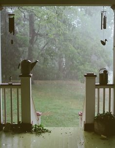 Summer Rain, Brentwood, Tennessee I love sitting on my porch & sipping coffee while it's raining. I'm so jealous-I love Tennessee, porches and summer rain! Vie Simple, Summer Rain, Rain Fall, Spring Summer, Spring Form, Soft Summer, Rainy Days, Rainy Night, Cozy Rainy Day