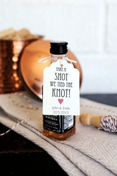 creative whiskey take a shot wedding favor ideas