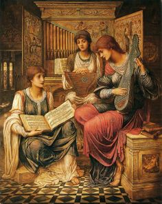The music of bygone age by John Melhuish Strudwick art