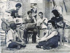 Cartola, Roberto Nascimento, Claudio Jorge, Pezão, Joel Nascimento, Guinga e João Nogueira.