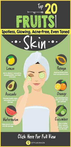 Top 20 Fruits For Good Healthy Glowing Skin #ConcealerTips