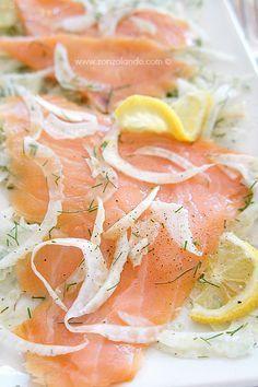 Insalata di finocchi e salmone affumicato - Fennel and smoked salmon salad