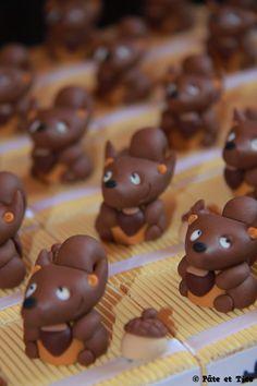 Boîtes à dragées écureuils