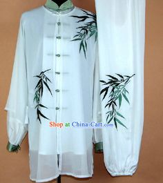 Embroidered Bamboo Kung Fu Uniform and Mantle Complete Set Mobile #218 - $238.00