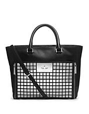Natalia Tiled Leather Large Tote Bag #MickaelKors #fashion #handbags