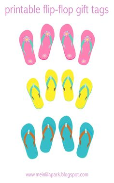 FREE printable flip-flop gift tags ^^