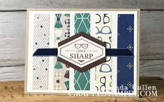 Truly Tailored - Lookin' Sharp - Crafty Stampin - Linda Cullen - Stampin Up