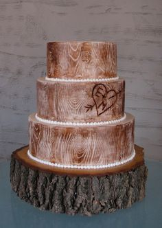best tree cake i have found. perfect! with your initials carved in and little birdies as cake toppers! different stand tho...too much.