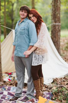 Bohemian engagement photos Stacy + Brandon  Photo By Daniel & Steph Photography and Film. #engagement #photography #bohemianengagement #boho #love Stacy's outfit and boots: The Abbey Salon & Spa