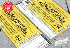 Concert Ticket Wedding Invitation by InvitationDesignNZ on Etsy