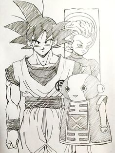 """Higher power"" drawn by: young Jijii. Found by: #SonGokuKakarot"