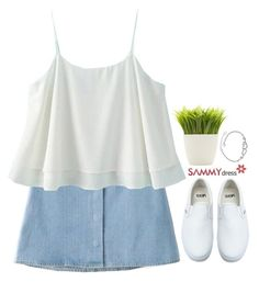 """Sammydress 34"" by emilypondng ❤ liked on Polyvore featuring Vans and Dot & Bo"