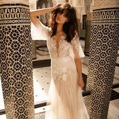 Afternoon inspiration straight from stunning Marrakech Liz Martinez Bridal's latest lookbook! | WedLuxe Magazine | #WedLuxe #wedding #luxury #luxurywedding #fashion #weddinginspiration