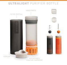GRAYL Ultralight – World's Best Purifier [+Filter] Bottle by GRAYL — Kickstarter