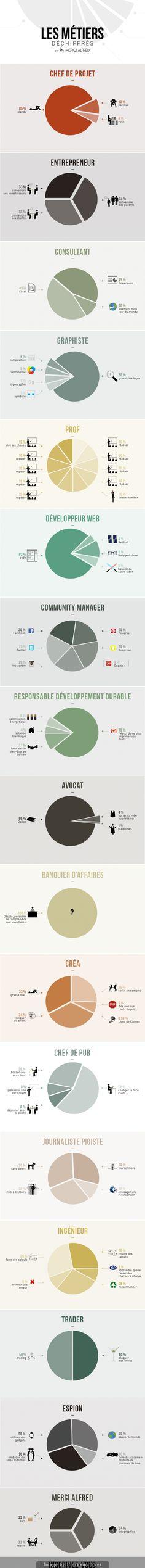 Infographie des métiers dechiffrés - Mercialfred - created via http://pinthemall.net