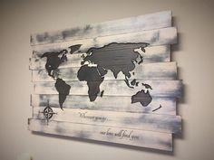 LARGE Carved Wooden World Map Pallet, to the world you may be one person but to one person you may be the world, Dr. Seuss, Couples, Pallet by HowdyOwl on Etsy