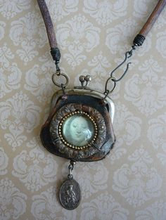 Pennies From Heaven Neckpiece by fuzzerbee on Etsy