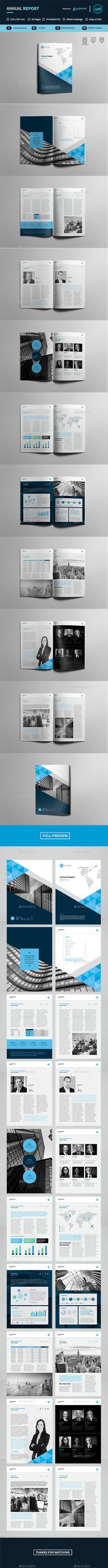 Annual Report — InDesign INDD #210x297 • Download ➝ https://graphicriver.net/item/annual-report/19453603?ref=pxcr