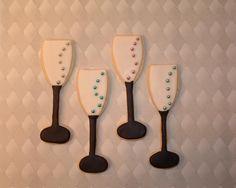 Champagne Flute Sugar cookies