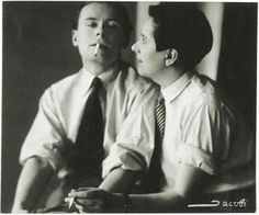 Lotte Jacobi... Klaus and Erika Mann (c. 1928–1932, gelatin silver print, Dietmar Siegert Collection). From the exhibition Foto: Modernity in Central Europe, 1918-1945 at the National Gallery of Art in Washington D.C.