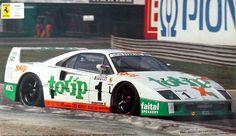 El Ferrari F40 de Jolly Club, pilotat per Mauro Trione al campionat italià de GT durant la temporada 1994