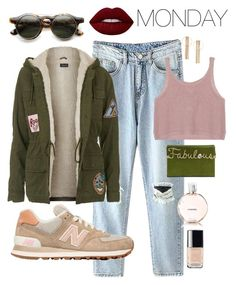 """new balance style"" by eurekacoolhunting on Polyvore featuring New Balance, Topshop, Charlotte Olympia, Lime Crime and Chanel"