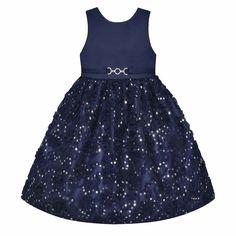 Girls 7-16 & Plus Size American Princess Sequin Soutache Skirt Dress, Size: 14 1/2, Blue (Navy)