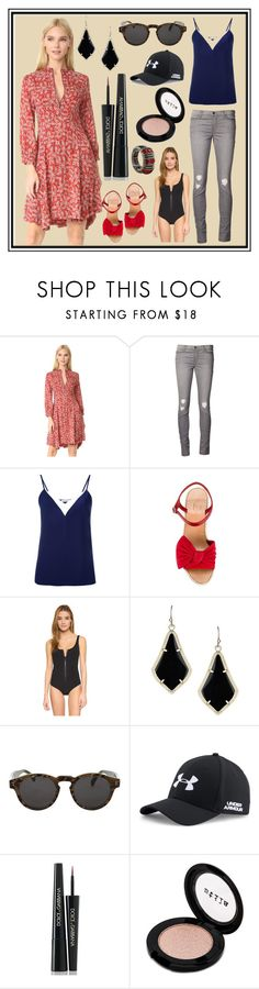 """A women With good dress is Never ugly"" by cate-jennifer ❤ liked on Polyvore featuring Belstaff, J Brand, Lanvin, Valentino, Lisa Marie Fernandez, Kendra Scott, Illesteva, Under Armour, Dolce&Gabbana and Stila"