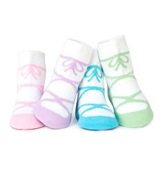 Another great find on #zulily! Pastel Blue Ballerina Socks Set by Trumpette #zulilyfinds