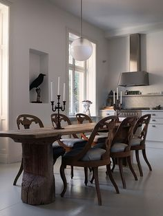 greige: interior design ideas and inspiration for the transitional home : Unique dining chairs