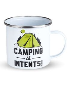 Look what I found on #zulily! 'Camping is Intents' Enamel Mug #zulilyfinds