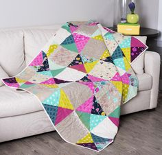 Cotton + Steel Simple Patch Quilt Kit - White good colors for grands' room. maybe in a rag quilt style?