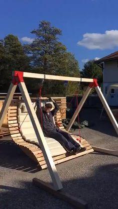 Backyard Patio Designs, Backyard Projects, Diy Wood Projects, Outdoor Projects, Backyard Landscaping, Outdoor Furniture Design, Diy Pallet Furniture, Garden Furniture, Design Jardin
