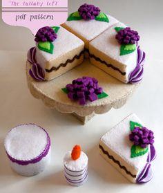 Felt Birthday Cake 2 Tier PDF PATTERN by thelullabyloft