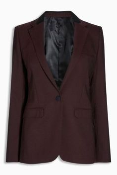 Buy Berry Premium Rib Texture Tailored Jacket from the Next UK online shop