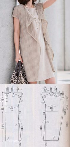 Amazing Sewing Patterns Clone Your Clothes Ideas. Enchanting Sewing Patterns Clone Your Clothes Ideas. Sewing Dress, Dress Sewing Patterns, Sewing Clothes, Clothing Patterns, Fashion Sewing, Diy Fashion, Fashion Outfits, Diy Kleidung, Vest Pattern